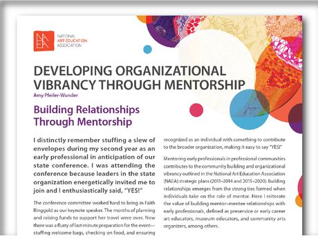 Organizational Vibrancy Through Mentorship