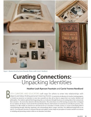 Art Education Journal_Curating Connections